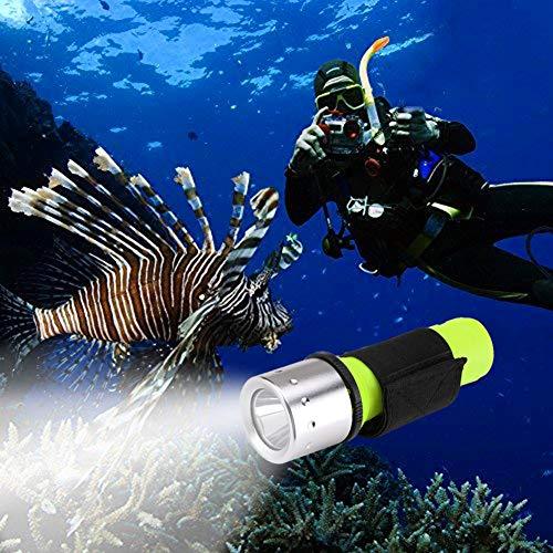 Linterna de Buceo, Heligen 3 Modes Linterna LED de Submarinismo Super Brillante Linterna de Buceo, para Deportes al Aire Libre, Senderismo, Camping