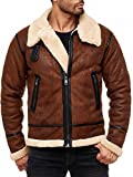 Redbridge Red Bridge Herren Winterjacke | Mantel | Parka | Balboa | Fell | Kunstleder Lederjacke | Mens Jacket | gefüttert RBC by Cipo & Baxx | (XXL, Braun)
