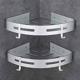 Hoomtaook Duschregal Ohne Bohren Badregal Aluminium Selbstklebender Kleber Matte Finish Badregal 2 Stück