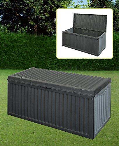 Schwarze Kunststoff Garten Staubox Deckel Terrasse Schuppen Material Polster Truhe 747519 (Zweck Truhe Box)