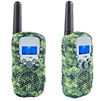 Coolzon Walkie Talkie Kids with 3km Long Distance Range, 2 Pcs Walky Talky Two Way Radio With Backlit LCD Flashlight for Camping Hiking Biking