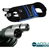Accu Cable 10m AC-PRO-XMXF/10 3 Pin XLR Microphone Cable