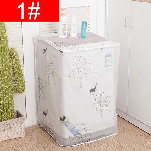 szdc88 Wasserfest Drucken Waschmaschine Maschine Staub Abdeckung Blumen/Tiere Gemustert Kühlschrank Staub Abdeckung (56 54 86cmFawn) - Beige, 56 54 86cm - Maschine Staub