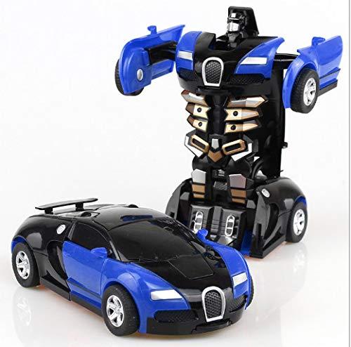 LIUKEQINGE One Step Impact Deformation Spielzeug King Kong 5 Bugatti EIN-Knopf-Transformation Männliches Mädchen Pocket Puzzle PK-Modell
