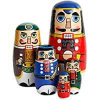 OJIN 5 unids Lindo Hecho a Mano de la Navidad Rusa muñeca de la jerarquización Juegos