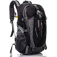 AM SeaBlue Outdoor randonnée sac à dos - multifonction résistant à l'eau 40L léger randonnée sac à dos grande capacité sac à dos pour le camping Voyage Alpinisme Trekking escalade Chasse Ski (Noir) dAeOFaZ