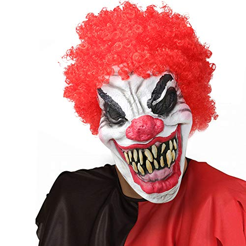 Supmaker Joker Clown Maske Dark Knight, Halloween Latex Kopf voller Horror-Kostüm-Schablonen-Kostüm Cosplay