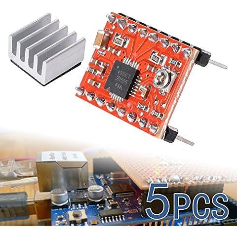 XCSOURCE? 5pcs driver stepper A4988 Reprap Mendel Prusa stampante 3D Stepstick Rampe TE208