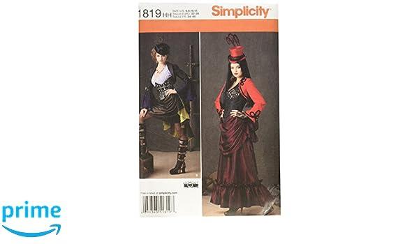 Simplicity us1558hh Größe HH Schnittmuster Steampunk Kostüm ...