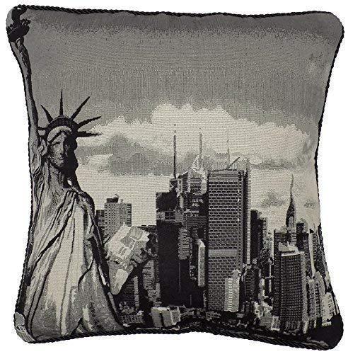 Amerika Wandteppiche (Wandteppich Baumwolle samt Freiheitsstatue New York Amerika USA Schwarz Dicker Kissenbezug 18