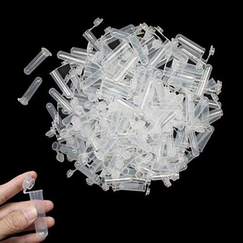 Saim 4 ml No-Leak Zentrifugenröhrchen aus Kunststoff Probenlagerung Flüssigkeit mit Snap Cap 300 PC Klares Weiß -