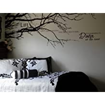 "Kult Kanvas algodón Top sede Casa vinilo pared adhesivo Wall Art Pegatinas 100""(W) * 44(H) (Negro)"