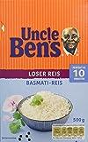 Uncle Ben's Reis-Spezialitäten Basmati-Reis lose, 4er Pack (4 x 500 g Karton)