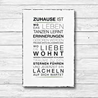 Zuhause ist - Dekoschild Wandschild Holz Deko Wand Schild 20x30cm Holzdeko Holzbild Geschenk Mitbringsel Geburtstag