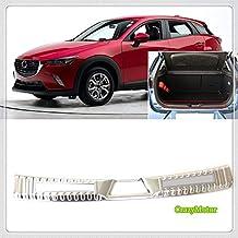 Homeve Protector de Placa de Defensa Trasera de Acero Inoxidable para Mazda CX-3 CX3