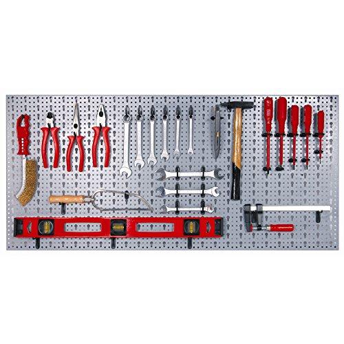 Werkzeugwand aus Metall mit 44 Kunststoffhaken Art.-Nr. 980mmx455mm
