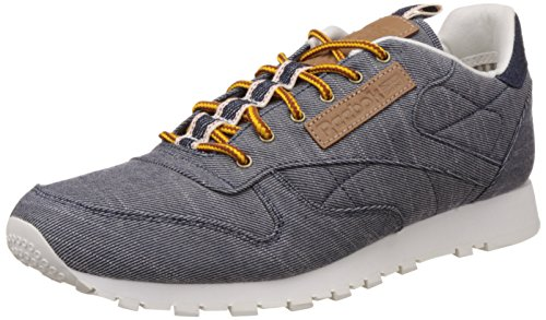 Reebok Classics Men's Cl Leather Dp Night Navy and Chalk Running Shoes – 9 UK/India (43 EU) (10 US) 51kYTlW81 2BL