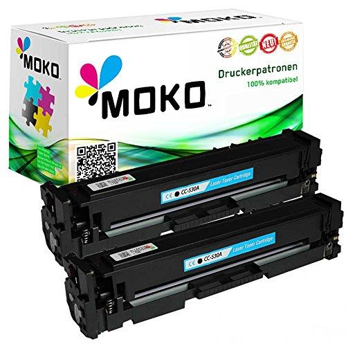 2 Toner kompatibel zu HP CC530A 304A: HP Color LaserJet CM 2300 Series: CM 2320 CB MFP / CM 2320 CBB MFP / CM 2320 CI MFP / CM 2320 EB MFP / CM 2320 EBB MFP / CM 2320 EI MFP / CM 2320 FXI MFP/ CM 2320 N MFP / CM 2320 NF MFP (Hp Toner Cc530a)