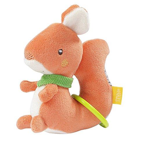 (Fehn 061079 Ring-Greifling Eichhörnchen   Motorikspielzeug zum Rasseln, Fühlen, Spielen   Fördert spielerisch die Sinne   Für Babys und Kleinkinder ab 0+ Monaten)