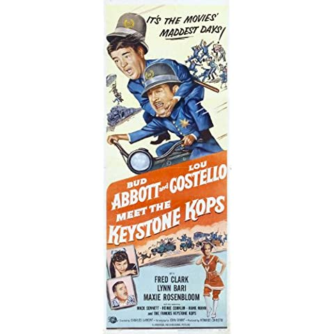 Abbott and Costello Meet the Keystone Kops Poster (14 x 36 Inches - 36cm x 92cm) (1955) Insert