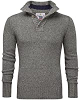 Charles Wilson Heritage Range Men's Button Neck Premium Wool Blend Jumper
