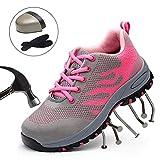 Dehots Damen Herren Sicherheitsschuhe Arbeitsschuhe Sportlich Trekking Wanderhalbschuhe Stahlkappe Hiking Schuhe Traillaufschuhe Atmungsaktiv Schutzschuhe