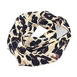 GreatestPAK Damen Loop Schal Printed Pocket Zip Schal,Khaki