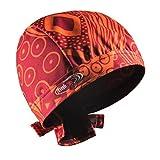 hairtex Stall-Mütze mit Bändern | schützt zuverlässig vor Stallgeruch | für Jede Frisur und Haarlänge Geeignet (Orange-Rot, S)