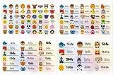 Kigima 114 Aufkleber Sticker Namens-Etiketten rechteckig Stella Verschiedene Größen und Tiermotive