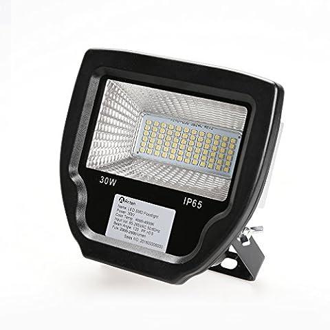 Anten LED Projecteur 30W IP65 Blanc Chaud 3500K 2700LM Lumière d'inondation/ Lampe /LED Spot Eclairage pour extérieur, intérieur,étanche Lumière de sécurité Imperméable