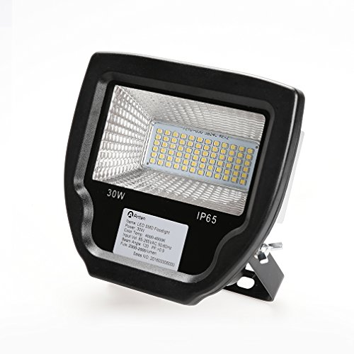 LED Außenstrahler set Fluter, 30W 230V, 2500lumens, Neutralweiß-4000K, IP65, Schwarz -