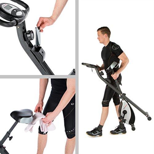 Ultrasport Foldable Exercise Bike with Pulse Sensor Grips 200-B – F-Bike Heavy