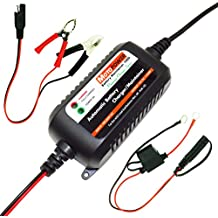 MOTOPOWER MP00206A 12V 1.5A totalmente automático cargador de batería / Mantenedor de automóviles, motocicletas, vehículos todo terreno, ellos, los RVs Powersports, paseos en bote y más. Inteligente, compacto y ecológico