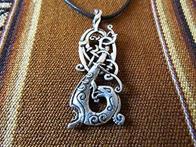 Pendentif Dragon Viking scandinave mythologie nordique sacré Oracle archéologie Histoire celtique art Viking Tolkien Harry Potter jeu des trônes druide celtique Odin Thor mythologie
