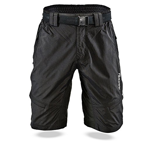 Baggy Mountain Bike Shorts (SILVINI Herren RANGO Mtb Hose, Black, XL)