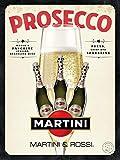 Taco Thursday Prosecco Martini Ferro Dipinto Vintage Poster in Metallo Targa in Metallo Targa in Metallo Targa per dormitorio Domestico Garage Camera da Letto Caffetteria