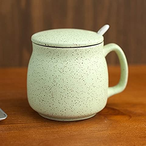 Punto de sésamo linda de cerámica taza de leche de la taza de té simple Copas ( Color : Verde )