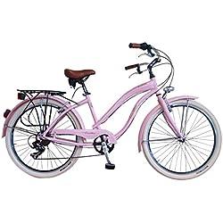 Via Veneto Bicicleta Urbana de Paseo - Cruiser Donna Rosa Mujer