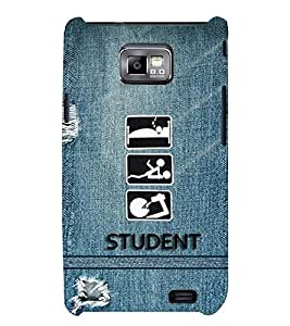 PRINTSWAG STUDENT Designer Back Cover Case for SAMSUNG GALAXAY S2
