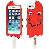 Weich silikon gummi Eiscreme hülle schale abdeckung case cover housing für iPhone 5 5G 5S(kann nicht passen 5C)_rot