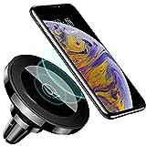 Support de Téléphone Voiture Portable Auto Inductif,Chargeur sans Fil Aimant Fort pour iPhone XS Max XR X/8/8 Plus/Samsung Galaxy S9/S9+/S8/S8 Plus/S7/S7 Edge/Note 8 5 et Tout Qi-Enabled Téléphone