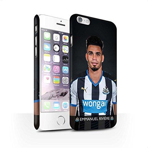 Officiel Newcastle United FC Coque / Clipser Matte Etui pour Apple iPhone 6 / Pack 25pcs Design / NUFC Joueur Football 15/16 Collection Rivière