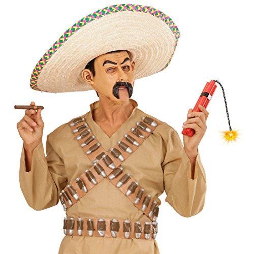 Dynamit Attrappe Fake Bombe Plastik Dynamitstange Cowboy Bankräuber Sprengstoff Mexiko Bandit Schwarzpulver Mexikaner Kostüm Accessoire Karnevalskostüme (Kostüme Bankräuber)