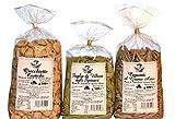 Tris Pasta di Puglia | Capunti al Grano Arso | Foglie di Ulivo agli Spinaci | Orecchiette Integrali | Pasta di Semola di Grano duro artigianale in confezioni da gr 500