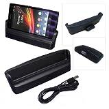 Mondpalast ® Dockingstation Ladegeräte Ladestation + USB Für Sony Xperia Z L36H C6603