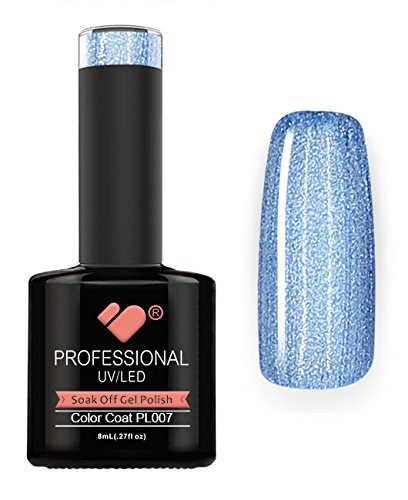 PL007 VB Line platin hellblau metallic Super UV/LED Soak Off Nail Gel Polish