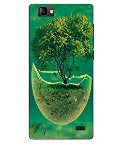 Case Cover Tree Printed Green Soft Back Cover For LYF WIND 7