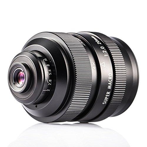 Zhongyi 20mm F2 Makro Objektiv manuelles Vollformat 4X-4.5X micro lens für M43 Mount Kamera mit TARION Tasche