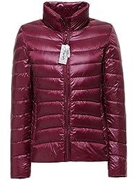Topgraph Chaqueta de mujer Ligero Chaqueta abajo de pluma Acolchado de invierno Puffer Jacket