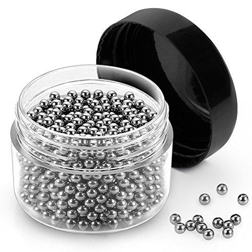 Reinigungsperlen, Vitutech 1000pcs Perlen Reinigen Edelstahl Sauberkeit, für Dekanter, Vase,...
